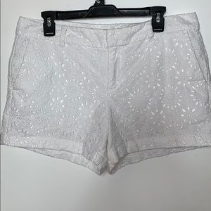 Ann Taylor size 10 white eyelet shorts